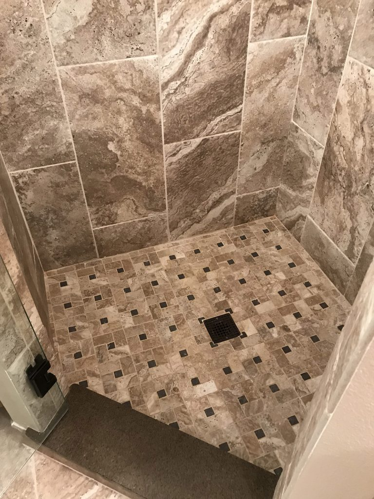 Square tile stone floorpan