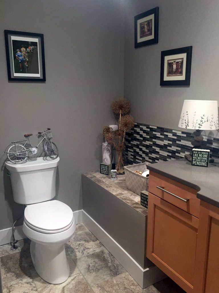 Bathroom with vanity bumpout