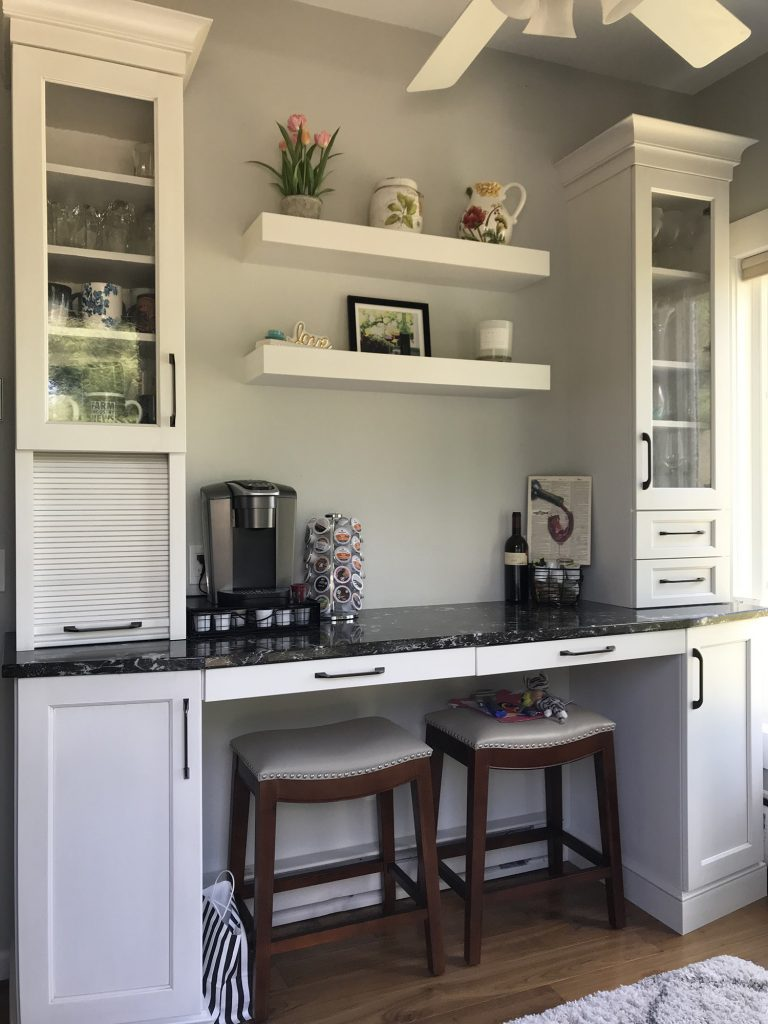 White kitchen coffee station