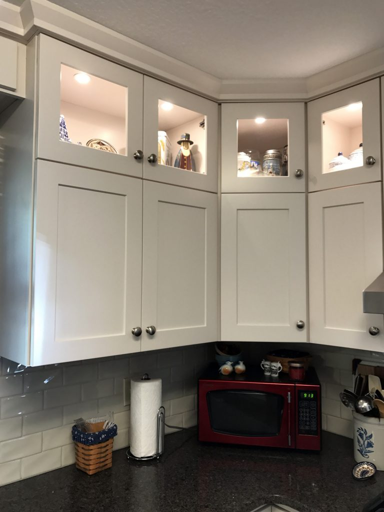 Shaker display cabinets