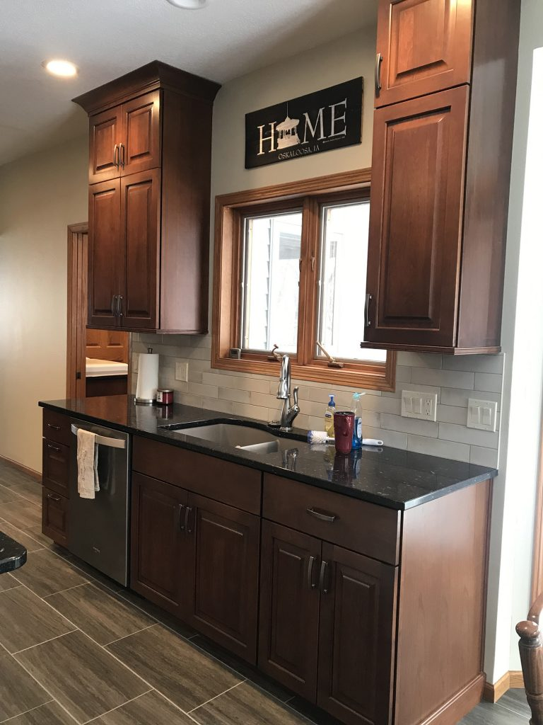 Woodtone kitchen with undermount sink