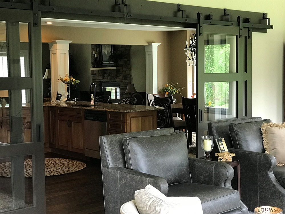 Living room sliding doors