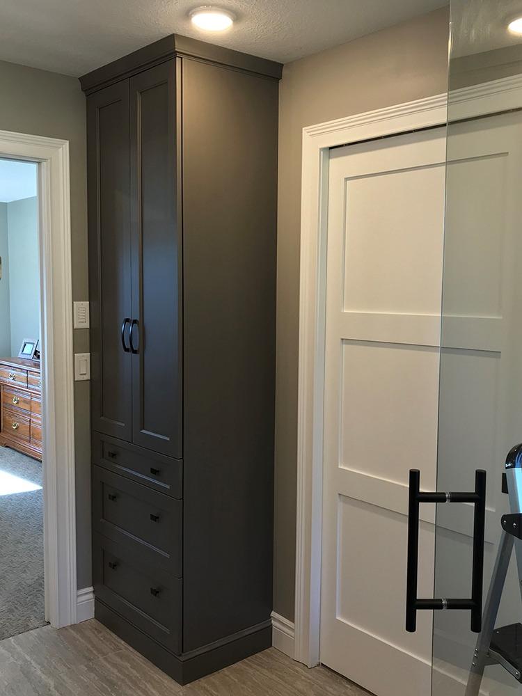 Tall linen cabinet
