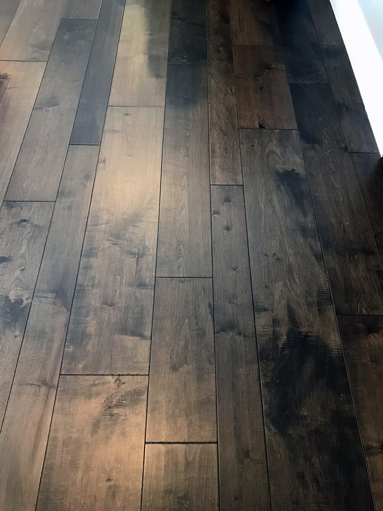Woodgrain tile floor